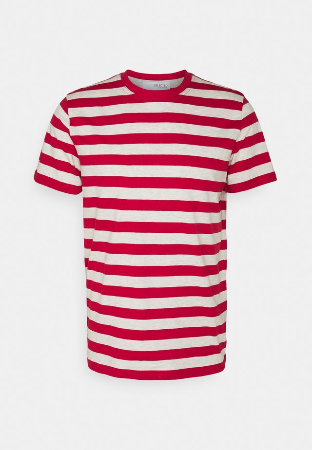 MAXWELL ONECK TEE - T-shirt con stampa - samba/melange