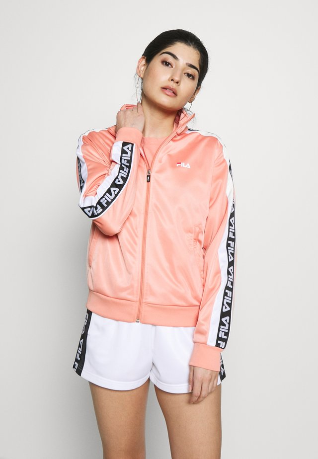 TAOTRACK JACKET - Kurtka sportowa - lobster bisque/bright white