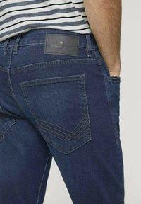 TOM TAILOR - TROY  - Slim fit jeans - stone wash denim - 5