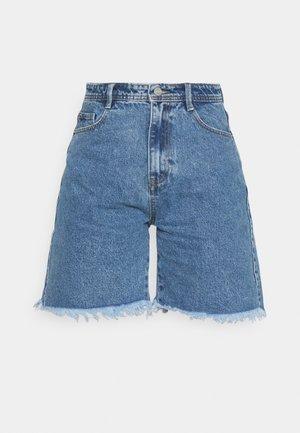LONGLINE - Jeansshort - blue