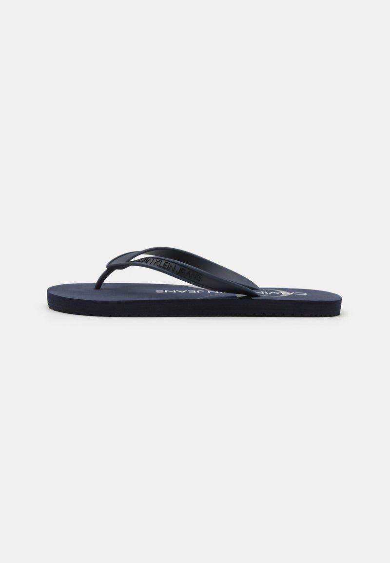 Calvin Klein Jeans - BEACH MONOGRAM  - T-bar sandals - night sky