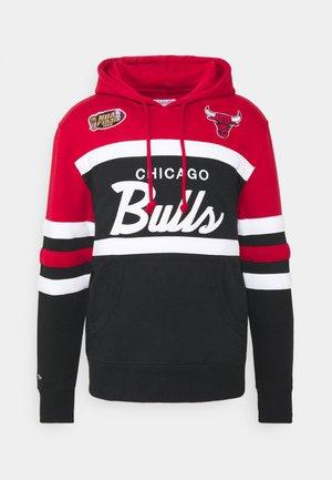 NBA CHICAGO BULLS HEAD - Club wear - red/black