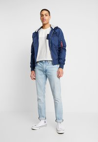 Alpha Industries - HOOD CUSTOM - Bomberjacka - new navy - 1