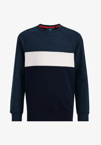 MET COLOURBLOCK EN TAPEDETAIL - Sweatshirt - blue