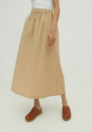 ROCK CAROLINE - A-line skirt - beige
