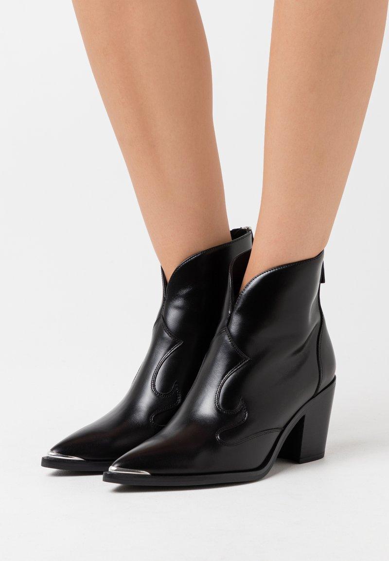 Unisa - MARCEL - Cowboy/biker ankle boot - black