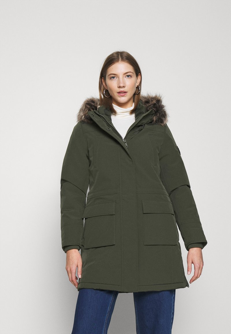 ONLY - ONLNEWSALLY LONG COAT - Winter coat - forest night
