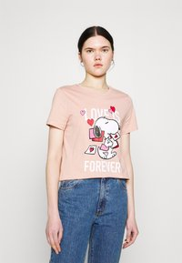 ONLY - ONLPEANUTS LIFE LOVE - T-shirt con stampa - misty rose - 0