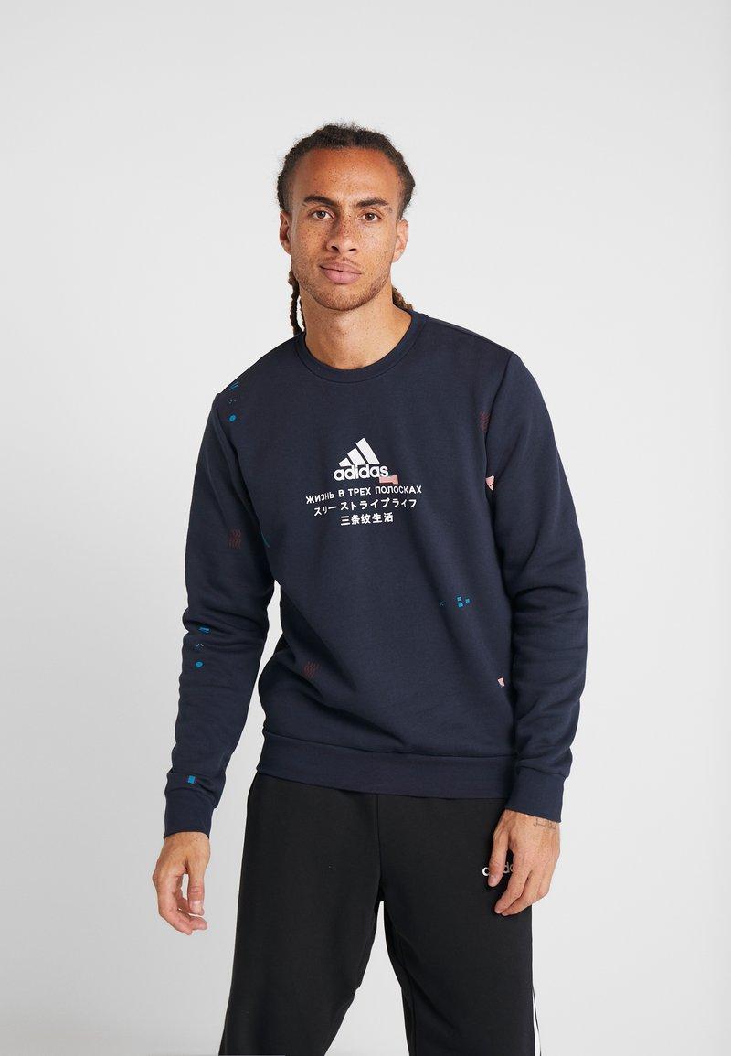 adidas Performance - CREW - Sweatshirt - dark blue