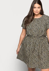 New Look Curves - FLO ANIMAL DRESS - Day dress - black - 3