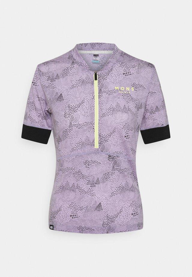 CADENCE HALF ZIP - T-shirt med print - lilac micro