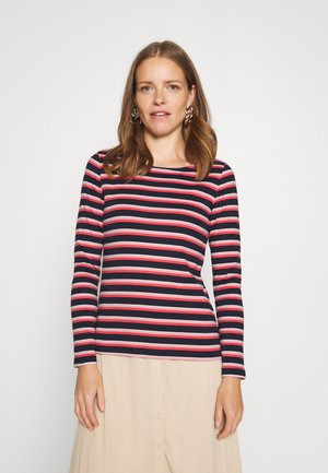 STRIPED CREW NECK - Long sleeved top - navy/red/multicolor