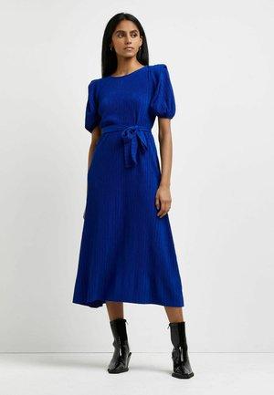 PLEATED TIE WAIST - Jersey dress - blue
