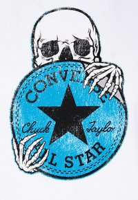 Converse - CHUCK PATCH SKULL TEE - T-shirt con stampa - white - 5