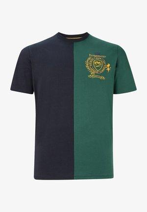 Print T-shirt - blau grün