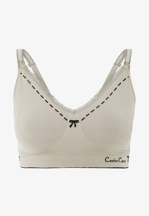 BREASTFEEDING BRASSIERE NURSING - Triangle bra - beige