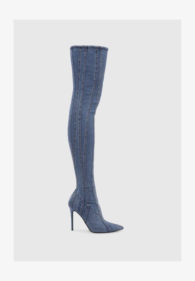 YUCCA  - Overknee laarzen - blue