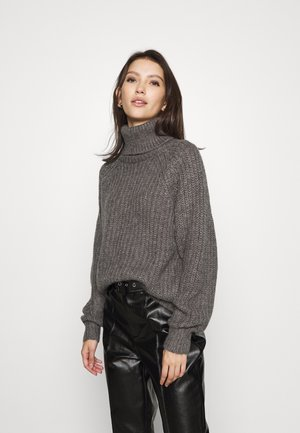 VISUBA HIGHNECK  - Sweter - medium grey melange