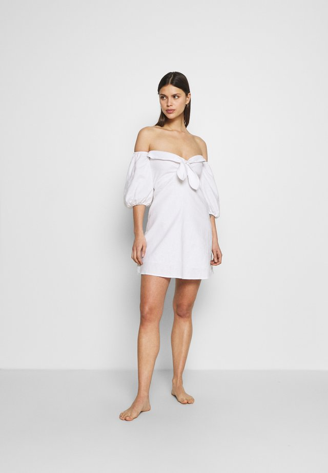 TERRACE TIE DRESS - Beach accessory - white