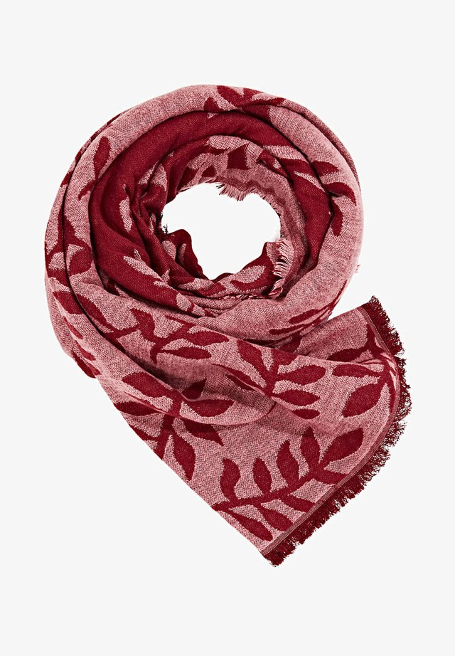 Scarf - garnet red