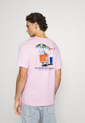 TEE FOOD CART - Print T-shirt - pink foam