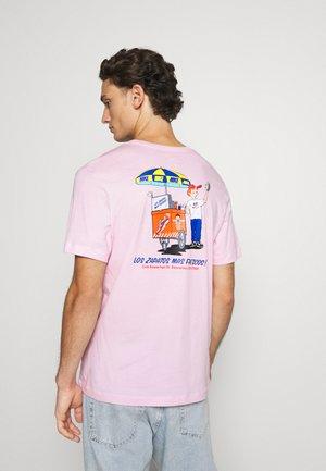 TEE FOOD CART - T-shirts print - pink foam
