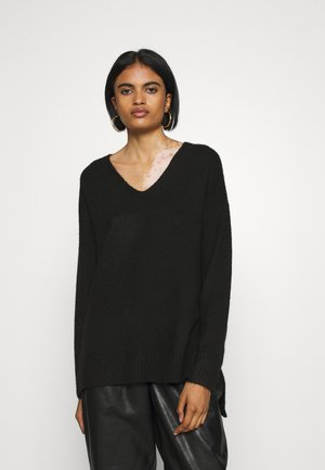 VMPLAZA VNECK LONG - Jumper - black