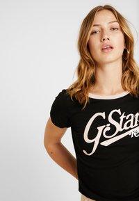 G-Star - GRAPHIC LOGO SLIM - Camiseta estampada - black - 3