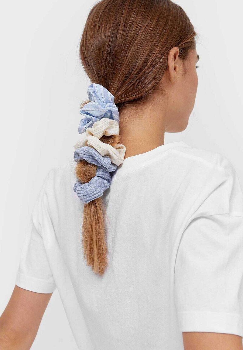 Stradivarius - 3ER SET  - Hair styling accessory - blue