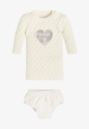 SET - Jumper dress - white