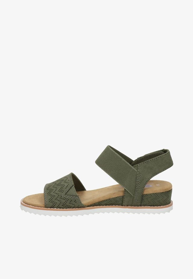 Wedge sandals - groen