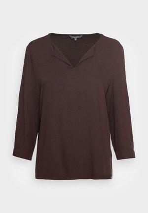 TUNIC - Long sleeved top - dark oak brown