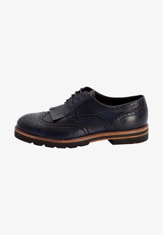 MIT HAFERLASCHE - Chaussures à lacets - blue