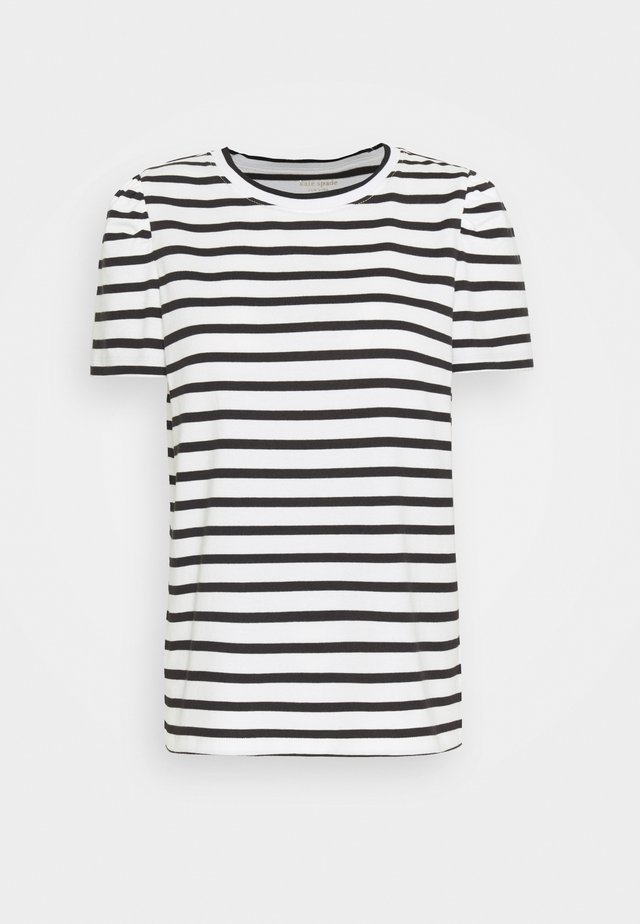 STRIPE PUFF SLEEVE TEE - T-Shirt print - cream