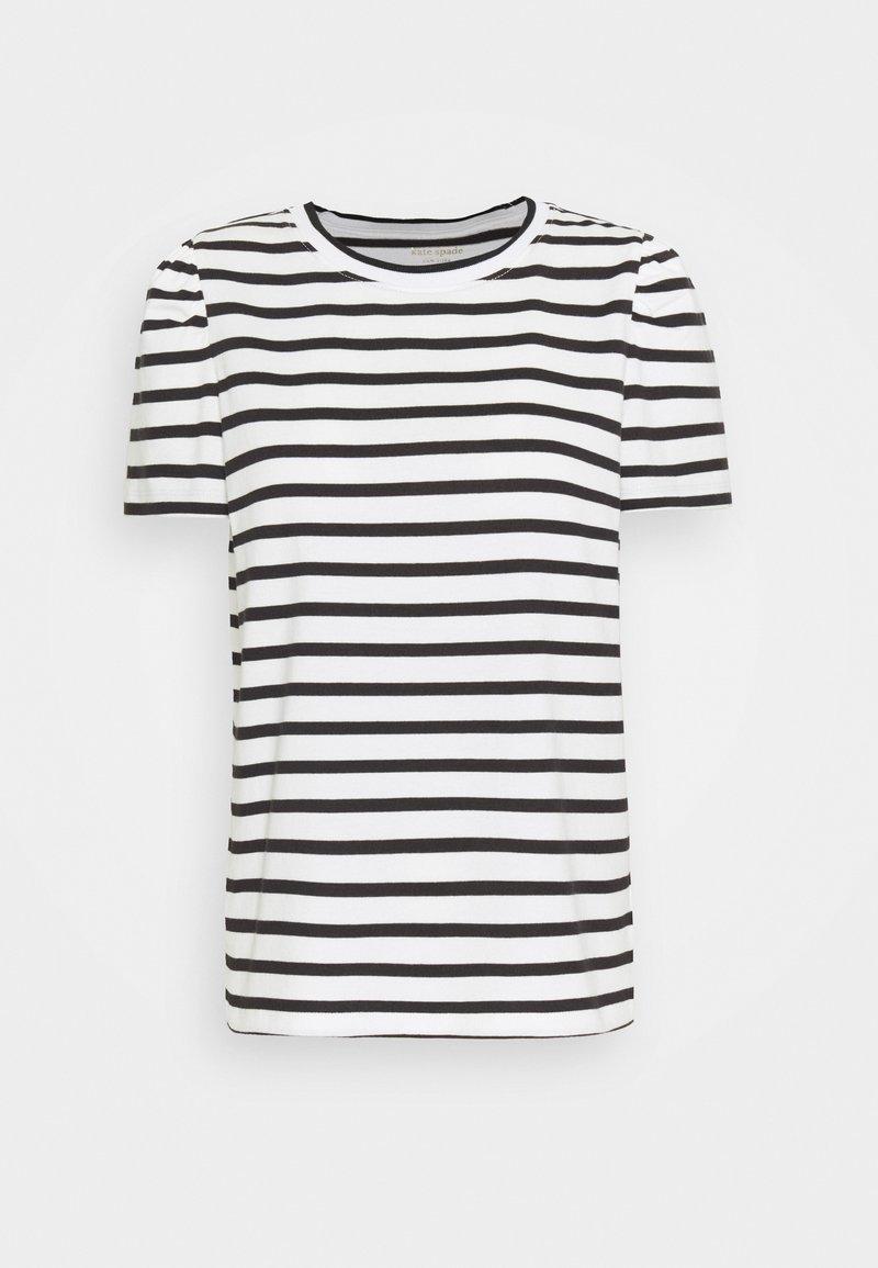 kate spade new york - STRIPE PUFF SLEEVE TEE - Print T-shirt - cream