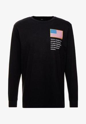 NASA WORM LOGO LONGSLEEVE - Long sleeved top - black