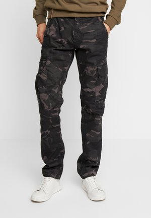 Cargo trousers - black camo