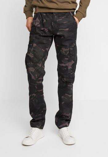Cargo trousers - black camo