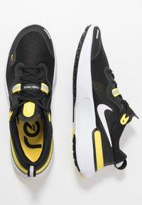 Nike Performance - REACT MILER - Juoksukenkä/neutraalit - black/white/opti yellow/dark grey - 1