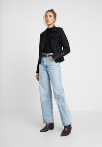Vila - VIFADDY JACKET - Faux leather jacket - black - 1