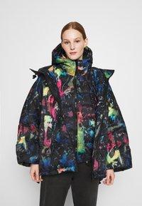 Diesel - JANUA - Winter coat - black/multicolour - 3