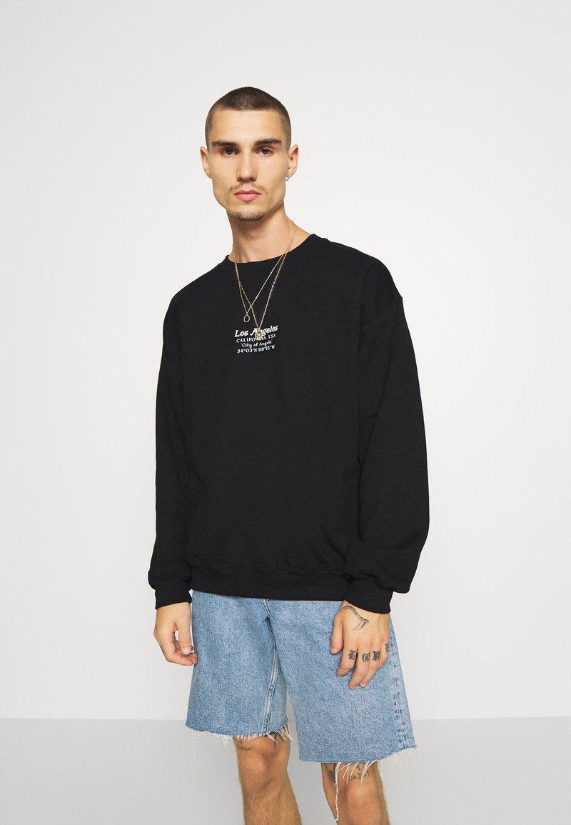 Topman - LOS ANG HERITAGE - Sweatshirt - black