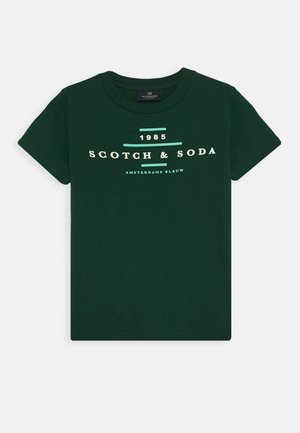 CREW NECK LOGO TEE - Print T-shirt - jungle green