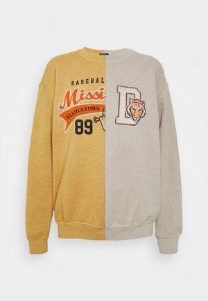 SPLICED ALLIGATORS - Sweatshirt - beige