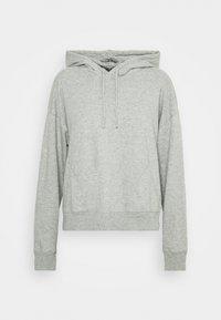 SLUB HOODIE - Pyjama top - heather grey
