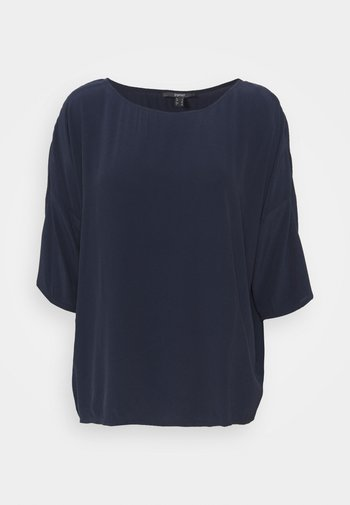BLOUSE - Long sleeved top - navy