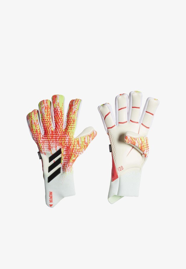 PREDATOR 20 PRO FINGERSAVE GOALKEEPER GLOVES - Rękawice bramkarskie - white