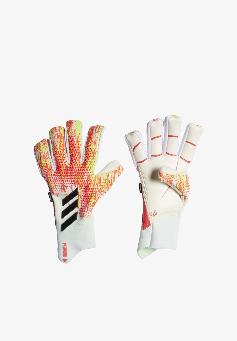 adidas Performance - PREDATOR 20 PRO FINGERSAVE GOALKEEPER GLOVES - Goalkeeping gloves - white