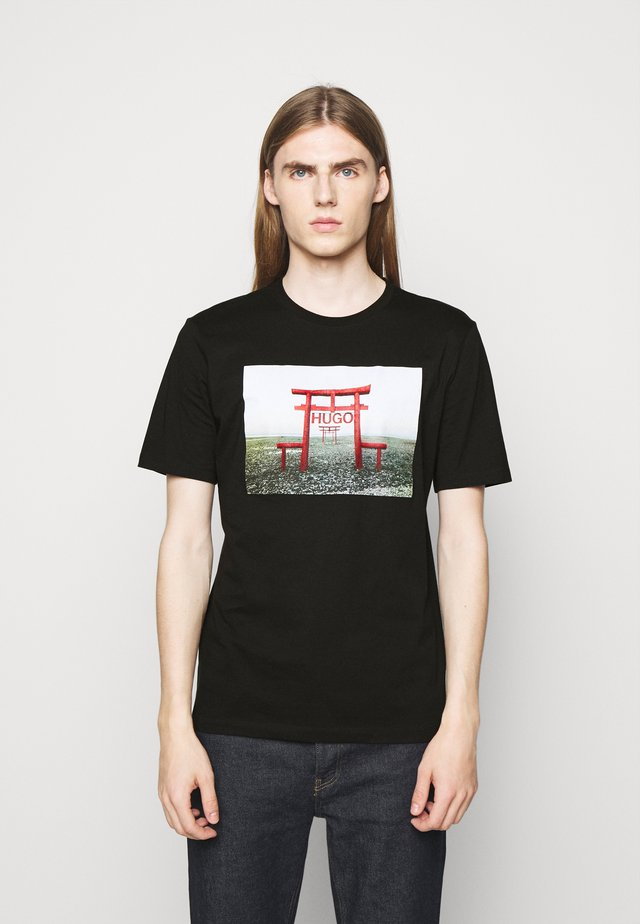 DICHIBAN  - Print T-shirt - black