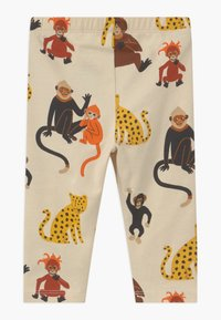 Lindex - LEO AND MONKEY 2 PACK - Leggings - Trousers - light beige - 2